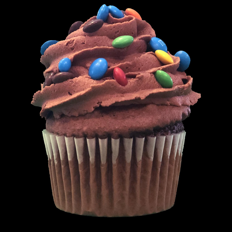 M&M's Surprise Cupcake